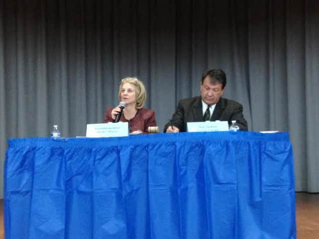 NYS Assemblywoman Shelley Mayer and NYS Senator George Latimer host a community budget hearing.
