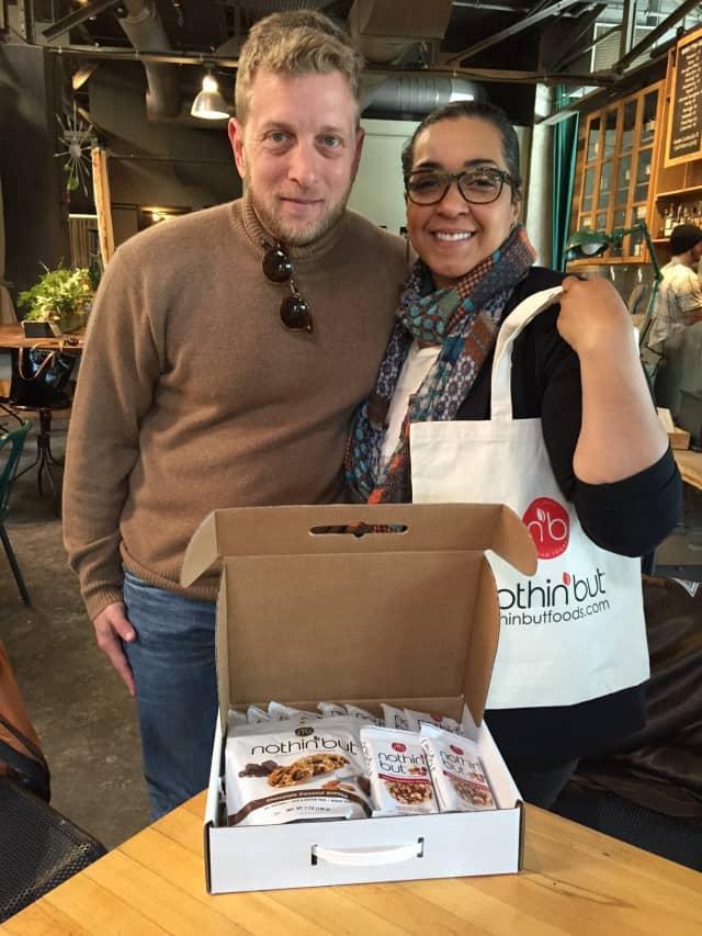 Steven Laitmon, left, and Jerri Graham of Nothin' But Premium Foods.