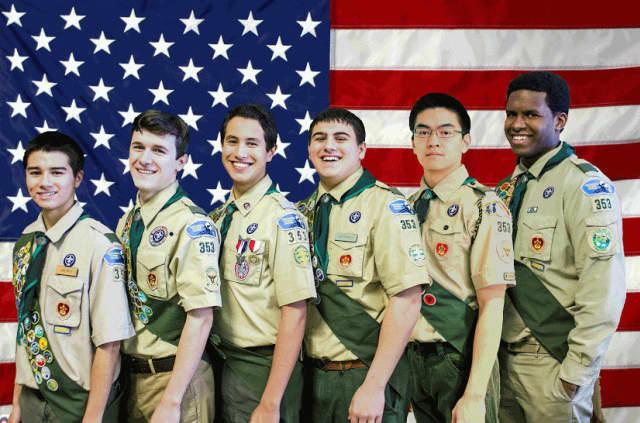 From left: Andrew Mrose, Noah Orlando, Alejandro Urbina, Matthew Occhicone, Derek Cheung and Tenneth Fairclough.