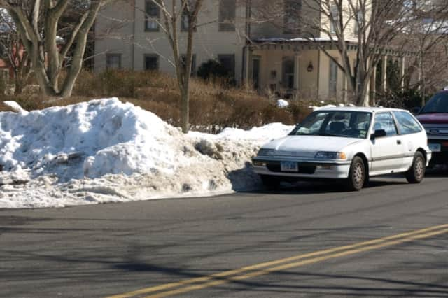 Newtown police have issued a parking ban during the anticipated snowstorm. It will begin Monday at sunset and last until Wednesday at noon.