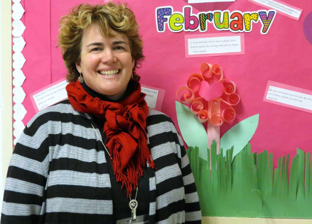 Briarcliff Middle School teacher Nancy Kress was named the district's 2015-16 Teacher of the Year.
