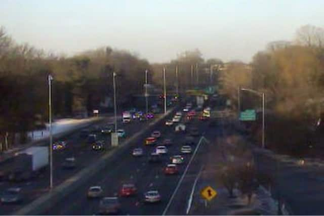 Commuters faced jammed roadways on Interstate 95 and the Merritt Parkway on Friday in Fairfield County.