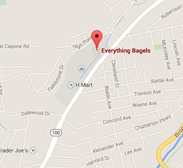 A small explosion caused damage at a Hartsdale bagel shop on Sunday.