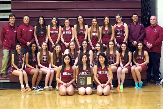 Harrison High School girls winter track and field team.