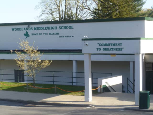 A computer aide at Woodlands High School was questioned after it was discovered she was topless in a recent docudrama.