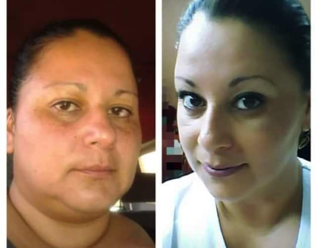 """Zumba Success Story: Karla before and after. """"I feel inspired by the instructors each time I go to class and am recharged with positive energy. I love life now."""""""