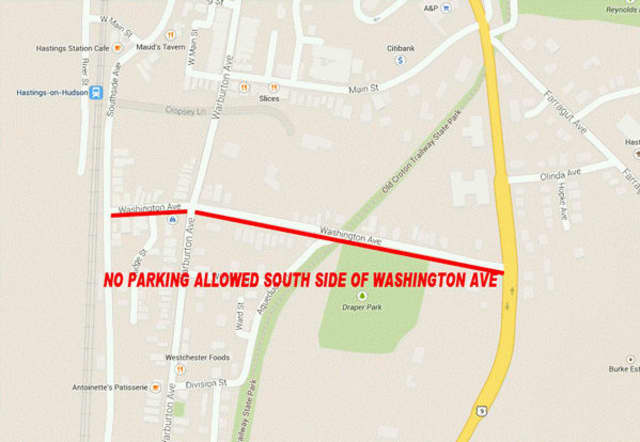 No parking will be allowed on Washington Avenue.