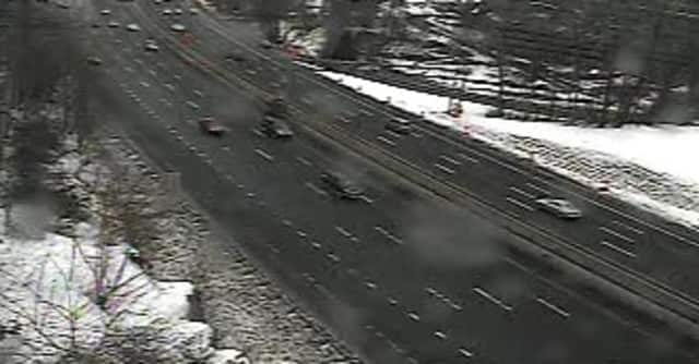 A look at conditions Wednesday afternoon at southbound I-87 south of Route 9.