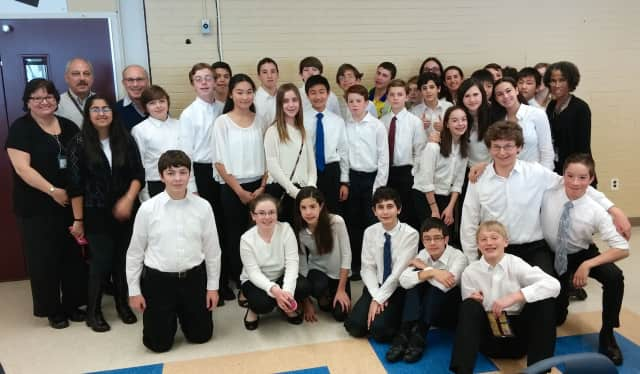 Briarcliff Middle School musicians performed in the eighth annual Rivertowns Honors Band and Orchestra Festival.