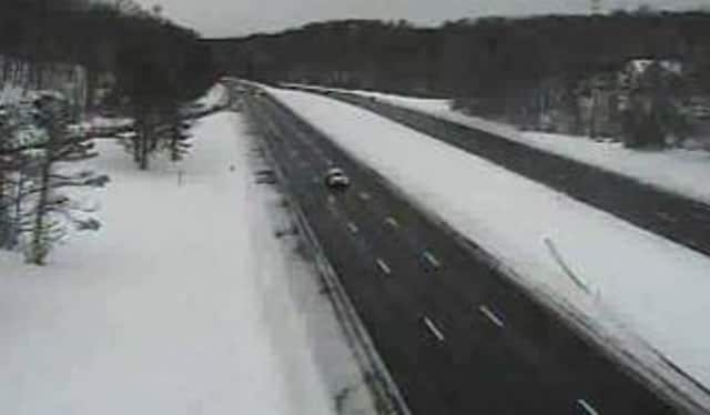 A look at conditions on the Taconic State Parkway at Pinesbridge Road in Millwood on Thursday.