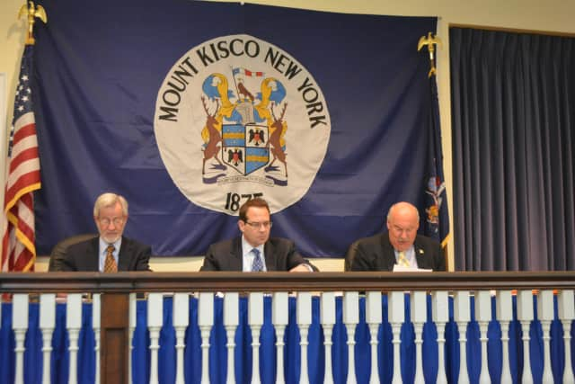 Mount Kisco Village Board members at their March 2 meeting.