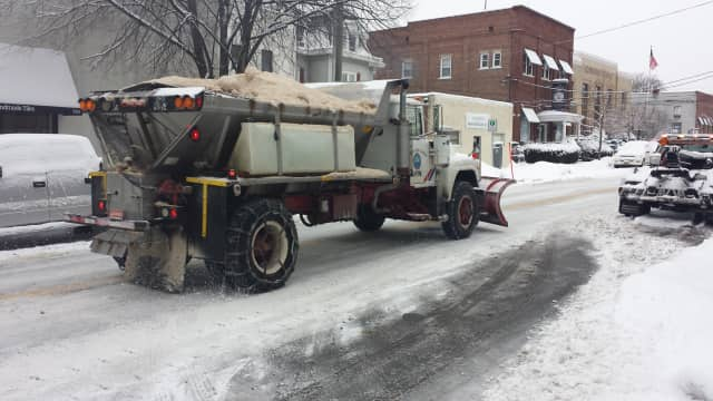 This plow was one of a half-dozen spotted along Main Street in Port Chester on Thursday afternoon.