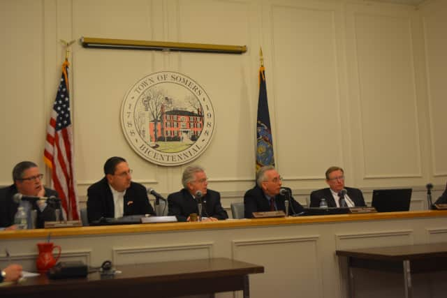 Mahopac developer Ken Kearney made a proposal for a mixed-use development in Baldwin Place before the Somers Town Board (pictured earlier this year).