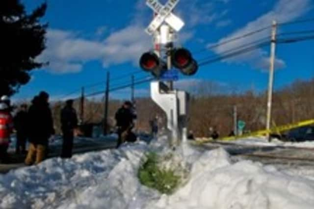 The Commerce Street railroad crossing in Valhalla where a train-SUV accident Feb. 3 killed six people.