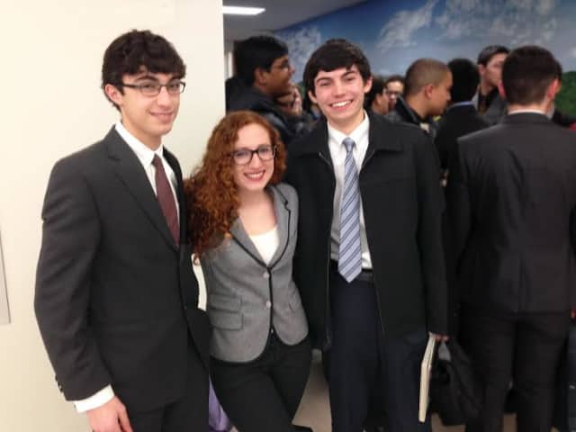 Adam Catto, Sarah Marino and Steven Brunetto won awards at the 15th annual Westchester Science and Engineering Fair.