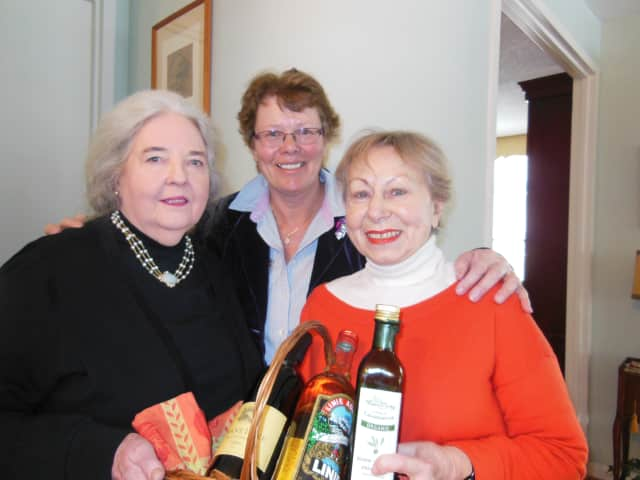 The key players in organizing the Annual Philanthropic Luncheon were, from left to right: Monica Bonner, chairperson Renee DeVries, and Matilde Mancini.