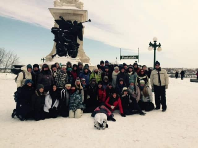Students who study French at John Jay High School visited Canada.