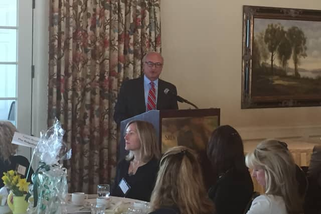 Ridgefield First Selectman Rudy Marconi delivers a State of the Town Address at the Silver Spring Country Club.