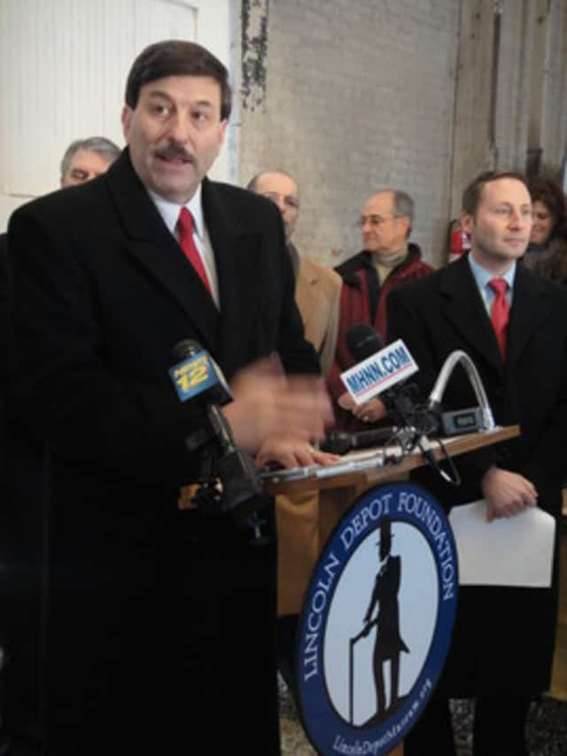 """County Legislator John Testa, left, and  County Executive Rob Astorino.""""Many of the municipalities that HUD sought to punish by reallocating the funds. . . aren't even subject to the affordable housing settlement,"""" Testa said on Monday."""