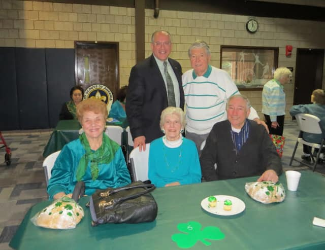 Eastchester Supervisor Anthony Colavita spent St. Patrick's Day with seniors.
