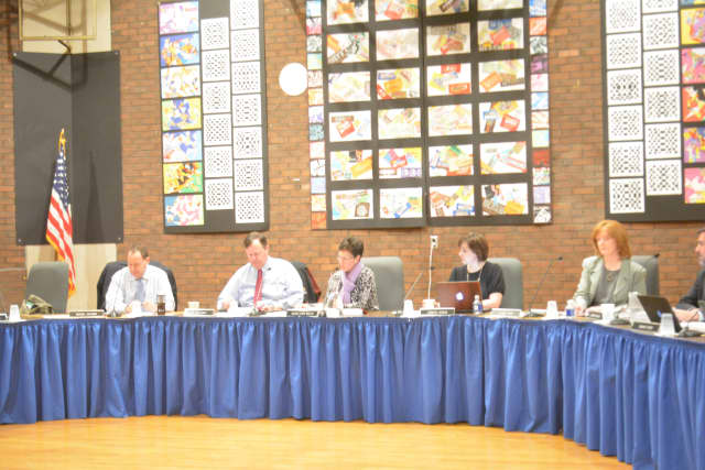 Bedford Central school board members at their March 11 meeting.