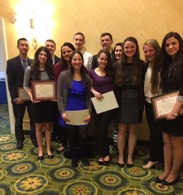 Carmel High School's business department honored 14 students at the College of Westchester's student success awards program.