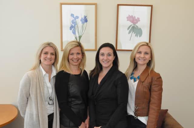 Gala co-chairs, from left, Kristin Nemec, Tara Ochman, Melissa Baiera, and Marisa DeVicaris