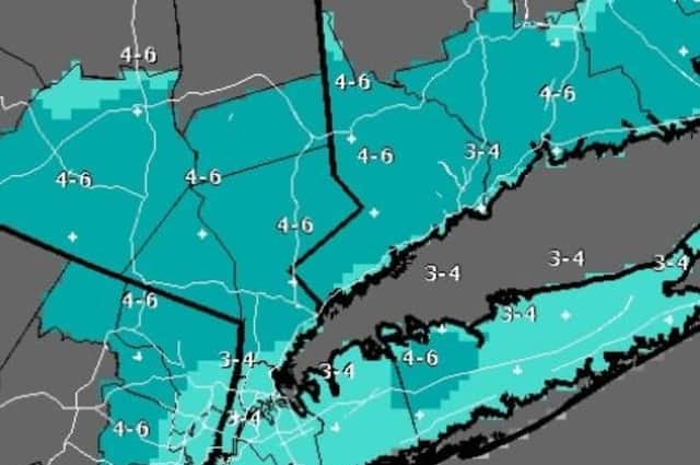 A look at projected snow accumulation totals.
