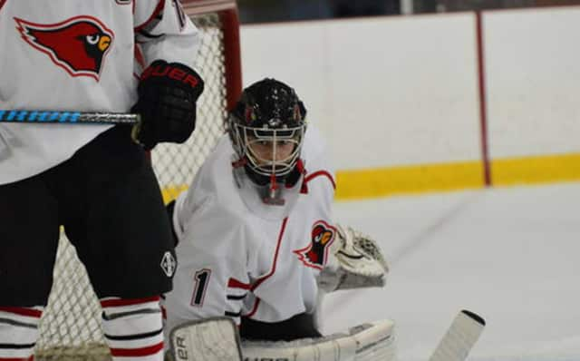 Goalie Bryan Archino made 28 saves for Greenwich in a  5-4 overtime win over Glastonbury in the Division I hockey semifinals.