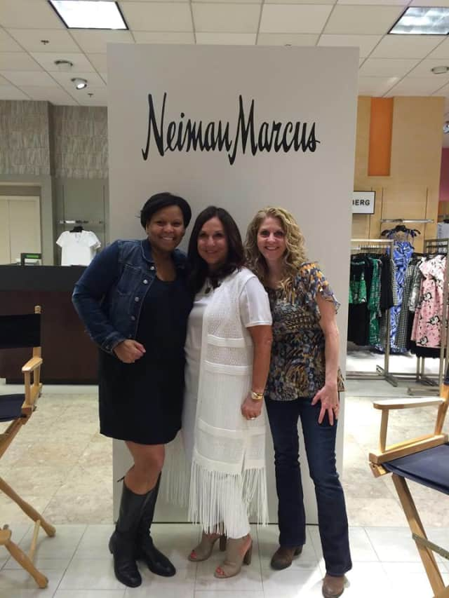 From left, Brooke Bizzell Stachyra, Stacy Geisinger and Tamara Green at the Neiman Marcus event.