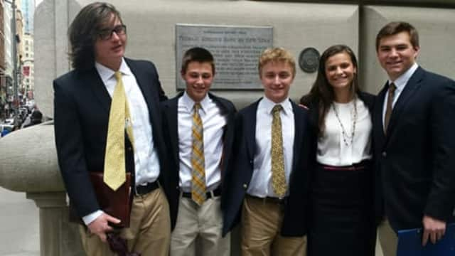 Students Noah Putnam, Sam Wertheim, Josh Girsky, Sophie Despins, and Andrew Sommer are part of the MHS team selected.