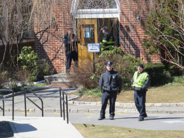 Scarsdale police had an assist from the Westchester County Bomb Squad as they swept the building following the threat.