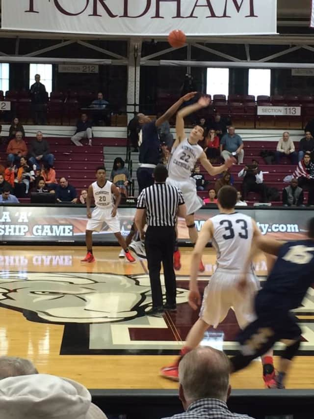 The Kennedy Catholic boys' basketball team played against Canisius in the New York State Catholic High School championship.