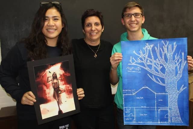 """William (Liam) Daly and Camille Rapay have won the Regional """"Gold Key"""" and Honorable Mention awards in the prestigious 2015 Scholastic Arts & Writing Awards competition."""
