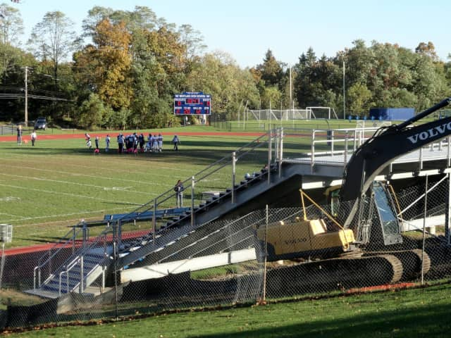 New bleachers were installed at Westlake High School in 2012. Mount Pleasant voters turned down any new field projects on Wednesday.