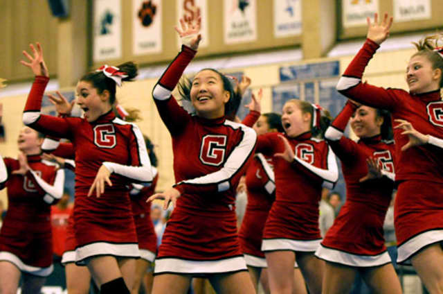 Greenwich High School cheerleaders