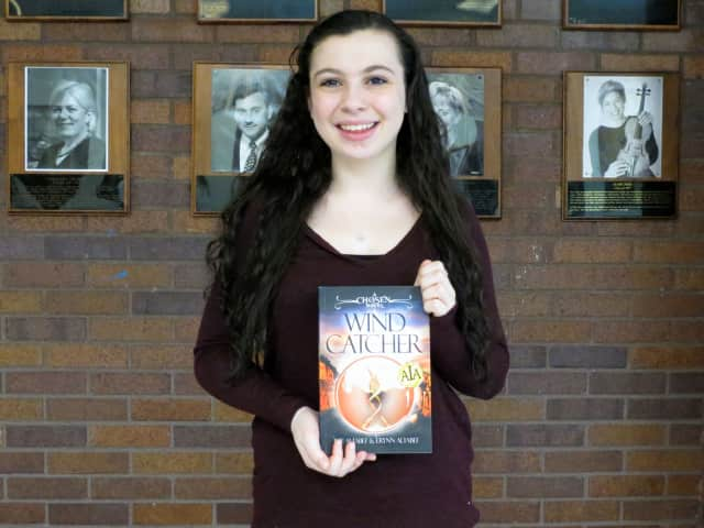 "Erynn Altabef with her new book, ""Wind Catcher: A Chosen Novel."""