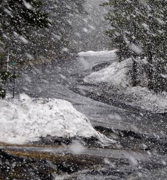 Snow could create slippery conditions on Thursday morning before clearing up