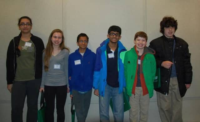 "Six Irvington Middle School students competed in the Westchester Regional ""You Be the Chemist Challenge,"" sponsored by the international chemical company BASF, March 14."