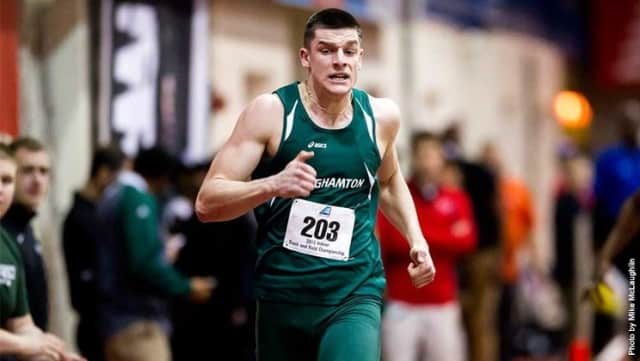 Former Eastchester High School standout Jon Atkins is excelling in track at Binghamton University.