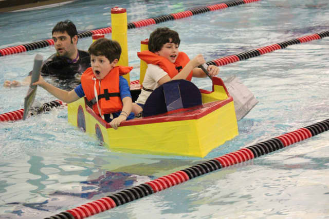 Attendees enjoyed fun and creativity at the Rye Y's 2nd Annual Cardboard Boat Regatta.