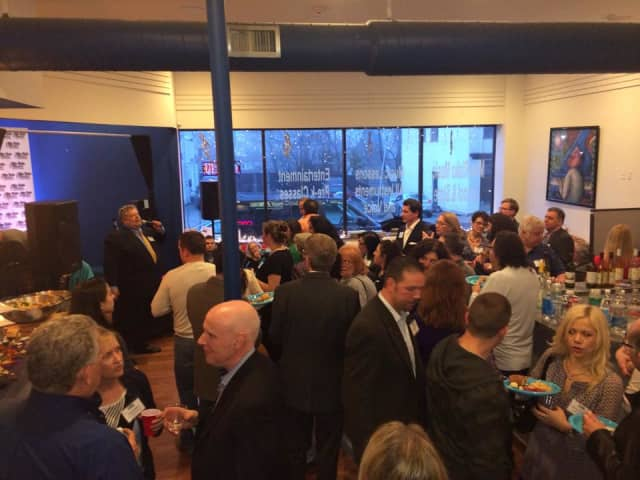 More than 75 area business owners participated in a recent networking event at the Mike Risko Music School in Ossining.