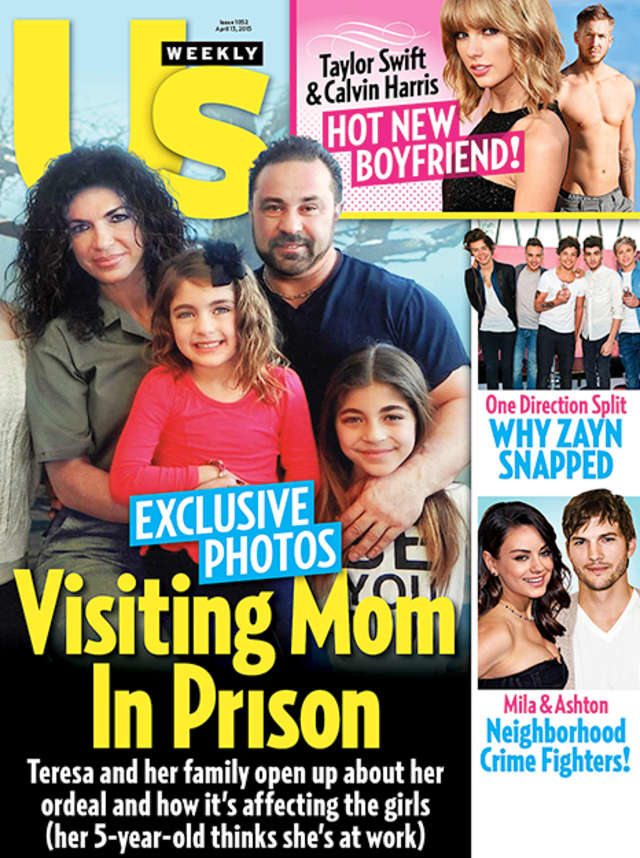 Teresa Giudice and her family appear on the US Weekly cover in a photo taken at the federal prison in Danbury.