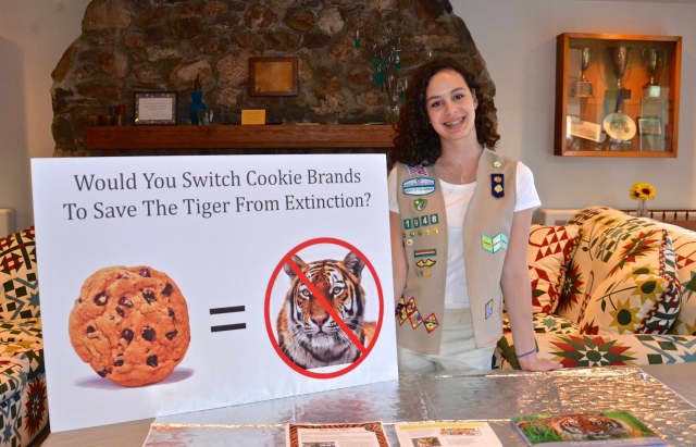 """Scarsdale resident Samantha Lawless is conducting a """"Save the Tiger."""""""