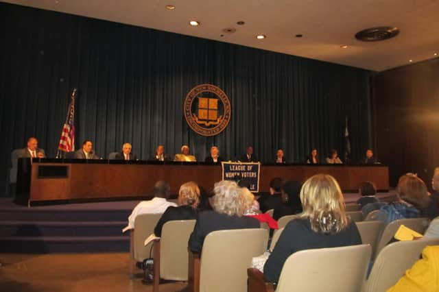 John Earvin was on a panel of candidates in the 2011 campaign for New Rochelle City Council.