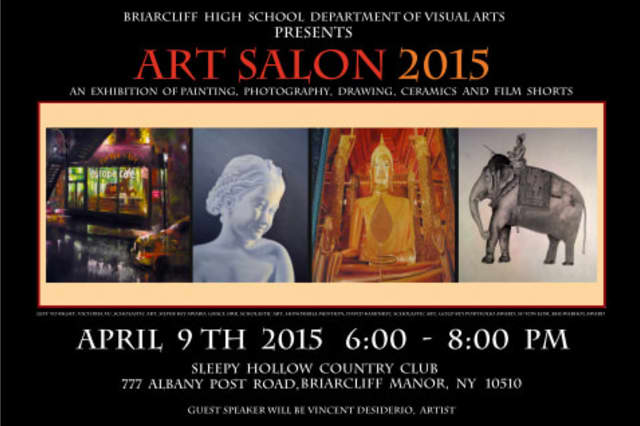 """Briarcliff High School is presenting """"ART SALON 2015 – Invitation to a Voyage"""" on April 9."""