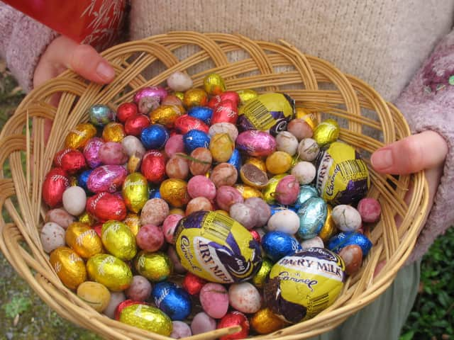 Chocolate eggs are a traditional Easter treat.