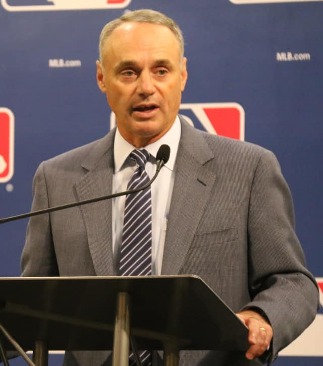 MLB Commissioner Rob Manfred will appear at J.P. Doyle's charity softball game in Sleepy Hollow on June 16.