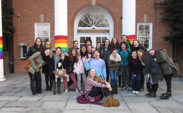 Pictured are members of the Irvington High School LGBTQIA Club who attended the PrideWorks Conference at Pace University on Saturday, March 28.