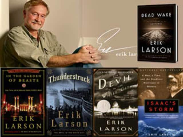 The Wilton Library is hosting New York Times bestselling author Erik Larson April 21.